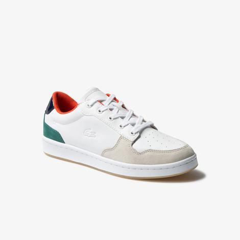 Lacoste Masters Cup 120 4 Sfa Kadın Beyaz - Yeşil Deri Sneaker
