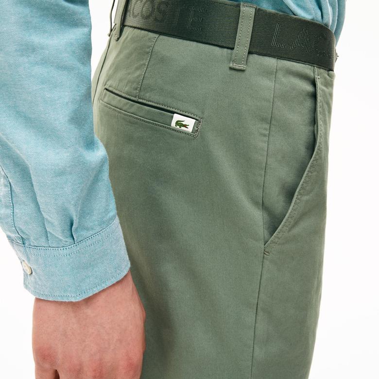 Lacoste Erkek Slim Fit Gabardin Haki Pantolon