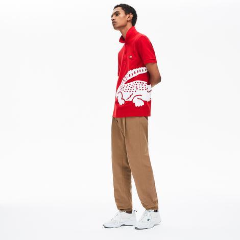Lacoste Erkek Regular Fit Timsah Baskılı Kırmızı Kısa Kollu Polo