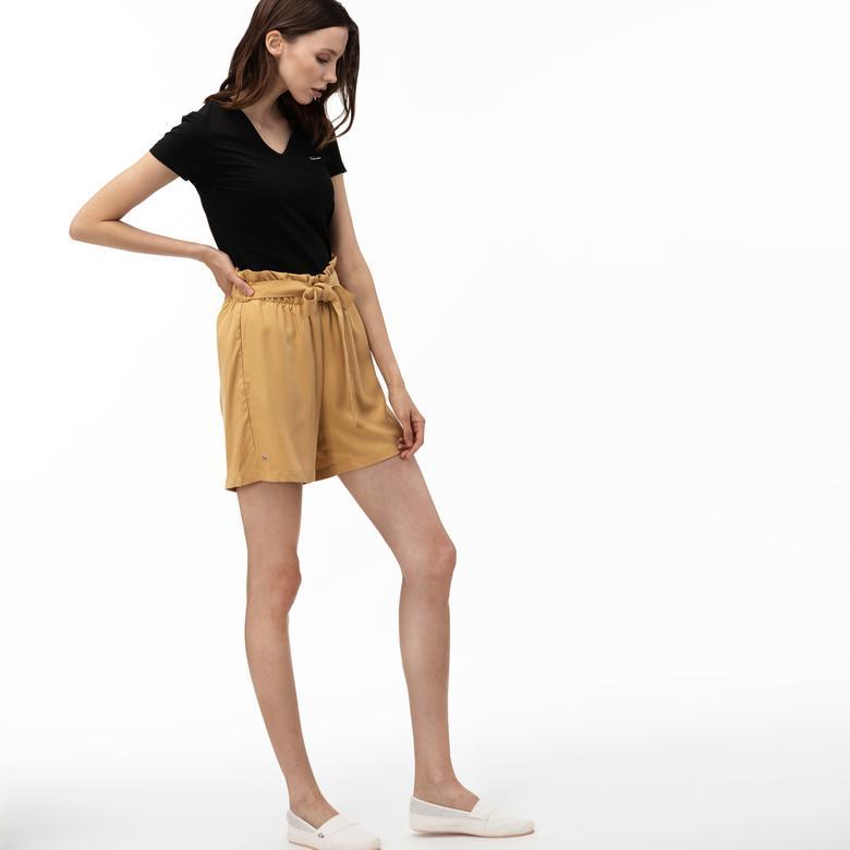 Lacoste Kadın Açık Sarı Şort