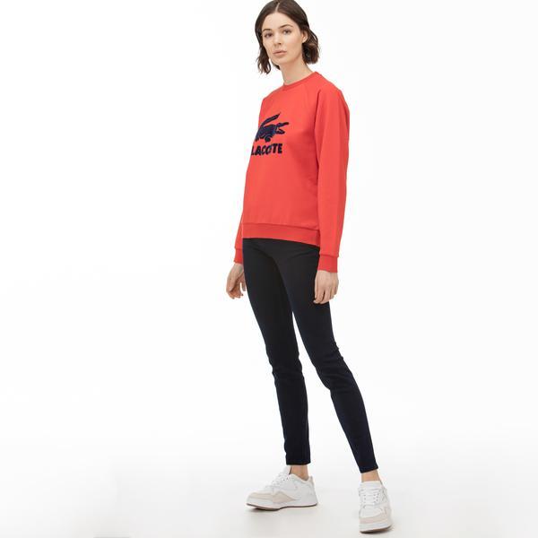 Lacoste Kadın Slim Fit Lacivert Jean