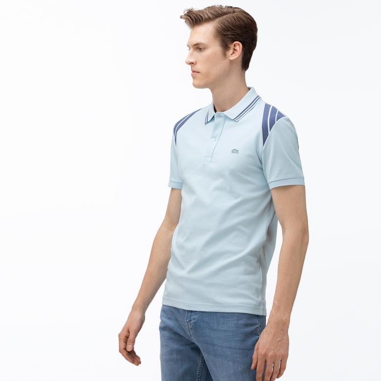 Lacoste Erkek Slim Fit Açık Mavi Kısa Kollu Polo