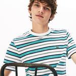 Lacoste Erkek Bisiklet Yaka Çizgili Renkli T-Shirt