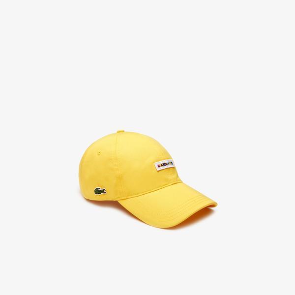 Lacoste Unisex Baskılı Sarı Şapka