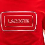 Lacoste Erkek Kırmızı Bisiklet Yaka Baskılı T-Shirt