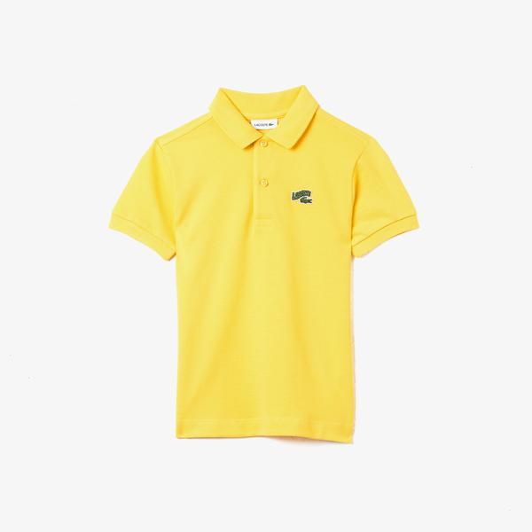Lacoste Çocuk Baskılı Sarı Polo