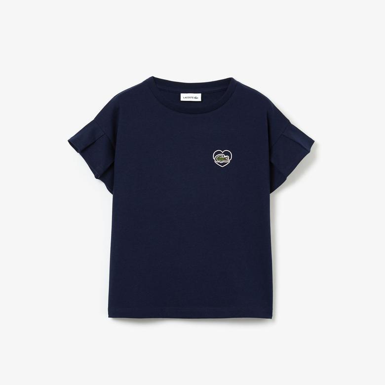 Lacoste Çocuk Bisiklet Yaka Lacivert T-Shirt