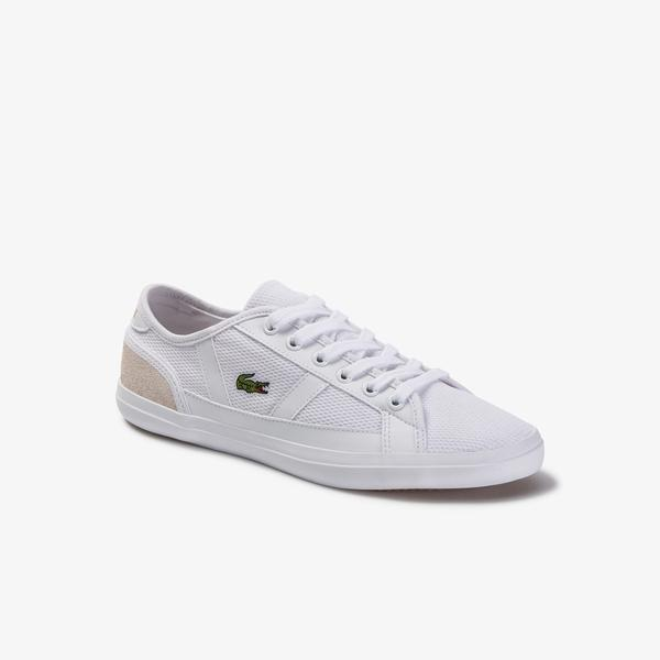 Lacoste Sideline Kadın Beyaz File Detaylı Sneaker