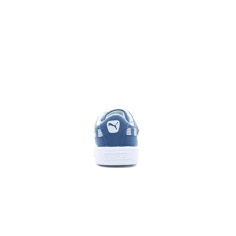 Puma Basket Canvas T4C Bebek Lacivert Spor Ayakkabı