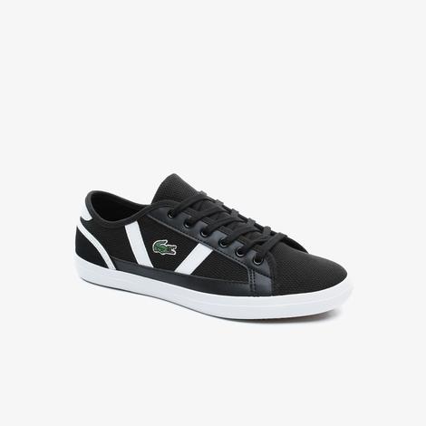 Lacoste Sideline Kadın File Detaylı Siyah Sneaker