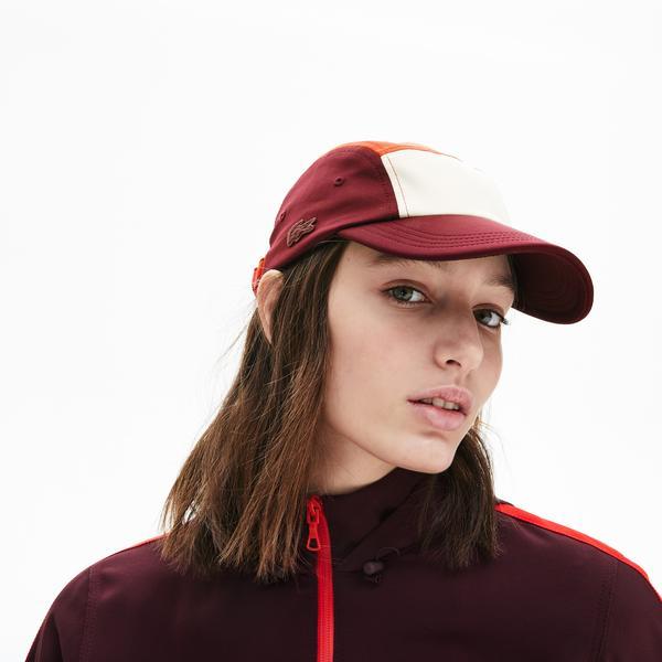 Lacoste Unisex Blok Desenli Bordo Şapka
