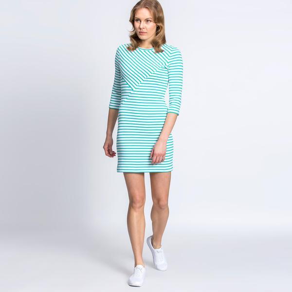 Lacoste Kadın Regular Fit Mavi Elbise