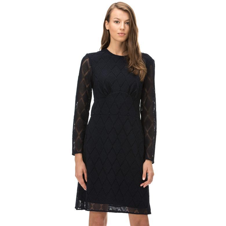 Burberry Kadın Lacivert Elbise