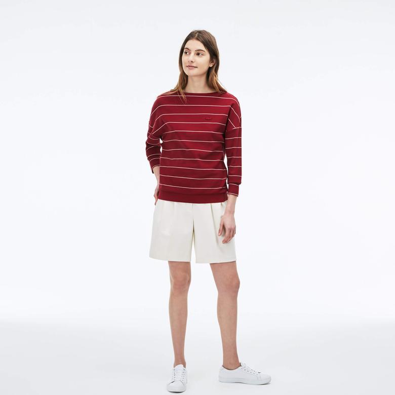 Lacoste Kadın Kırmızı Sweatshirt