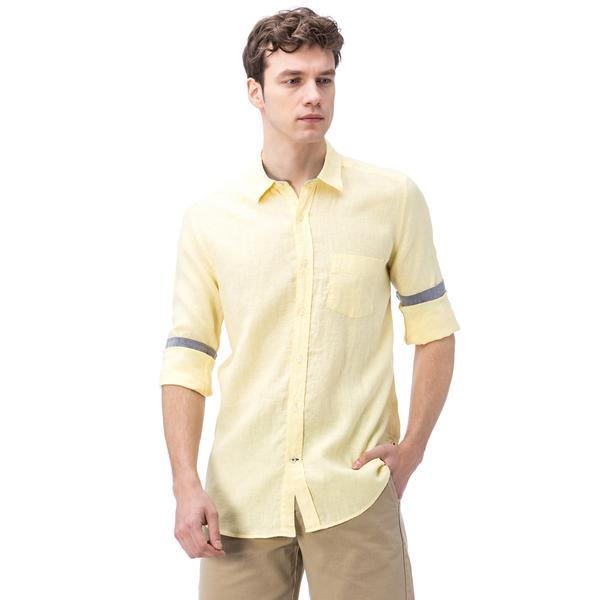 Nautica Erkek Sarı Keten Gömlek