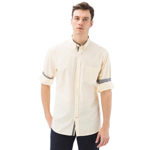 Nautica Erkek Sarı Uzun Kollu Cepli Oxford Gömlek