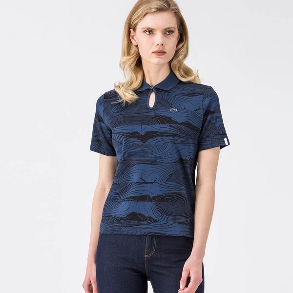 Lacoste Lacivert Kadın Polo Tshirt