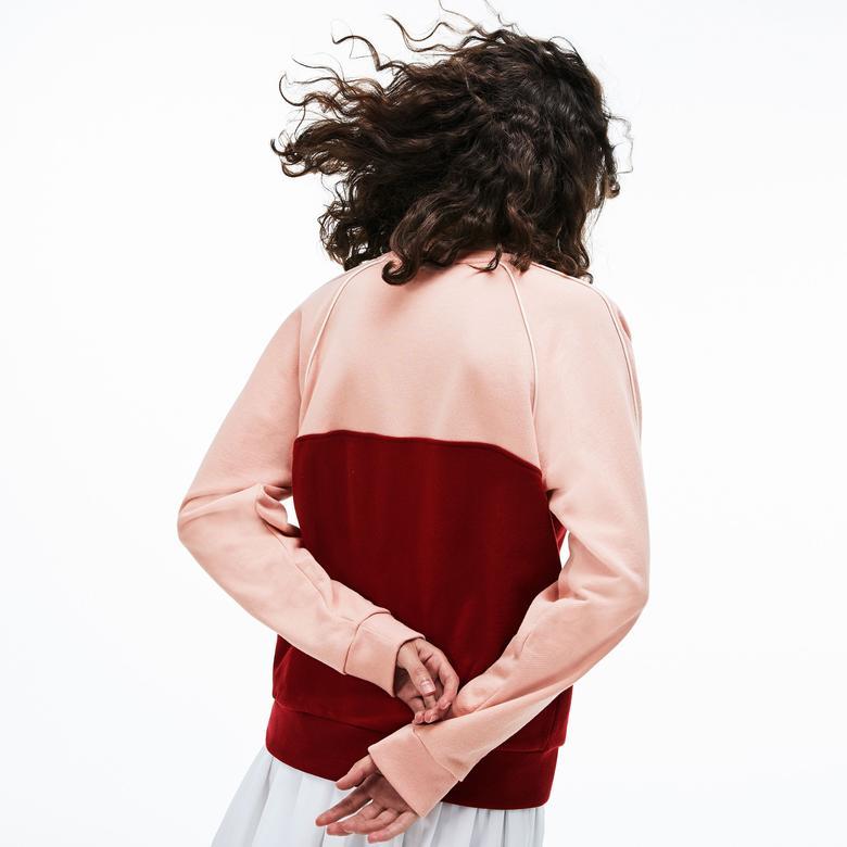 Lacoste Kadın Pembe - Bordo Sweatshirt