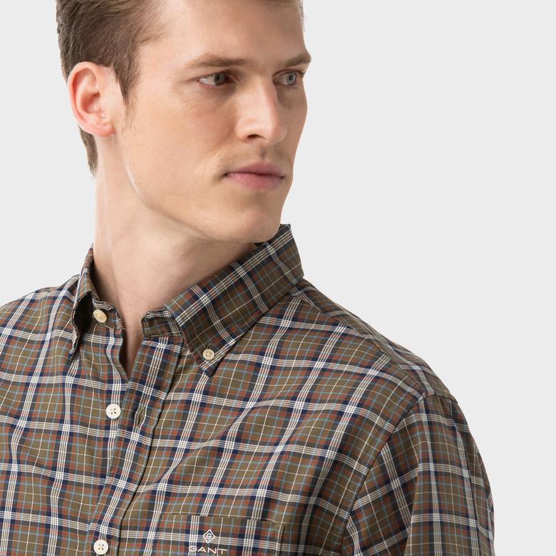 Gant Erkek Kahverengi Regular Fit Gömlek