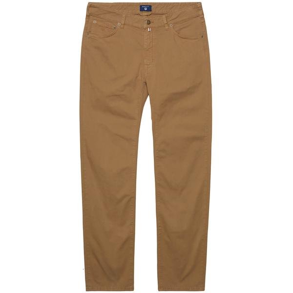 Gant Erkek Tyler Regular Fit Kahverengi Jean Pantolon