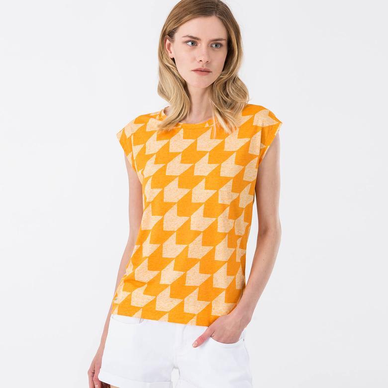 Lacoste Kısa Kollu Sarı Kadın Tshirt