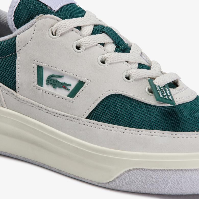 Lacoste G80 Og 120 1 Sma Erkek Beyaz - Koyu Yeşil Deri Sneaker
