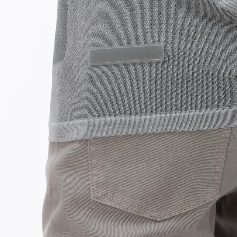 Lacoste Erkek Slim Fit Blok Desenli Gri Kısa Kollu Polo