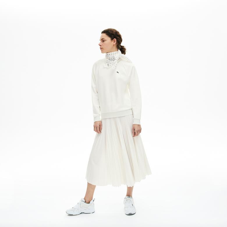 Lacoste Kadın Pileli Beyaz Etek
