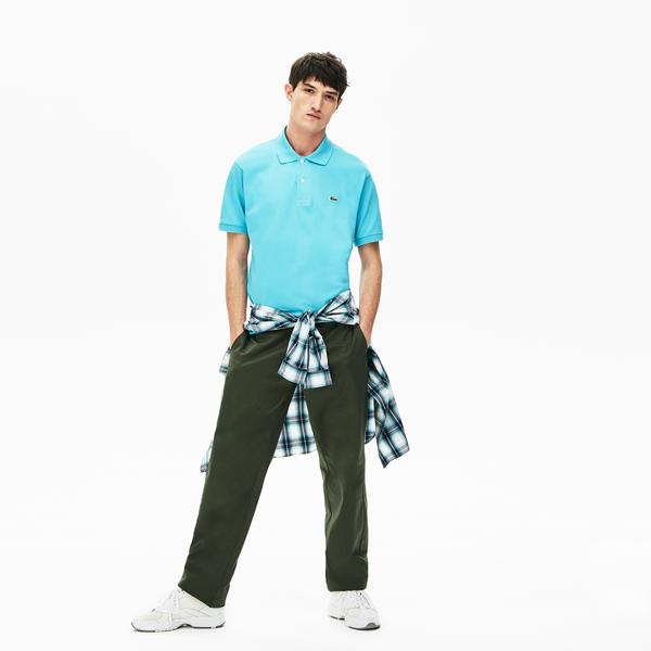 Lacoste Erkek Klasik Fit L1212 Mavi Kısa Kollu Polo