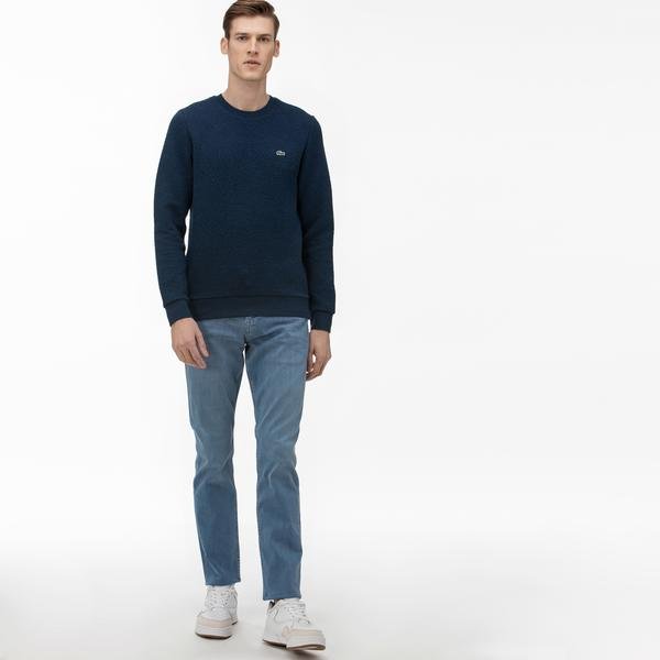 Lacoste Erkek Slim Fit Denim Mavi Pantolon