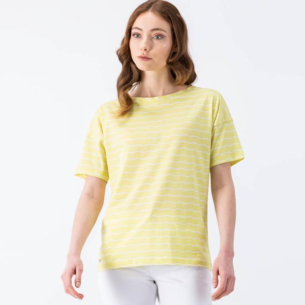 Lacoste Sarı Kısa Kollu Kadın Tshirt