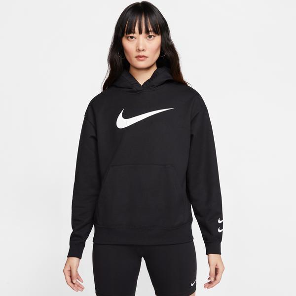 Nike Sportswear Swoosh Kadın Siyah Kapüşonlu Sweatshirt