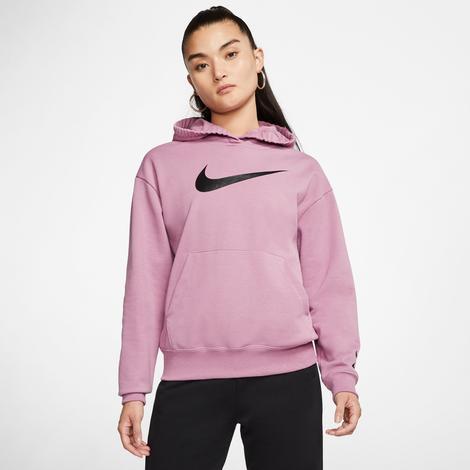 Nike Sportswear Swoosh Kadın Mor Kapüşonlu Sweatshirt