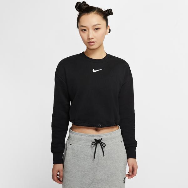 Nike Sportswear Swoosh Crew Kadın Siyah Sweatshirt