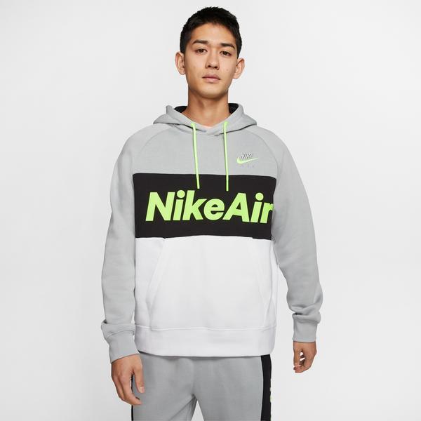 Nike Sportswear Air Erkek Gri-Beyaz Kapüşonlu Sweatshirt