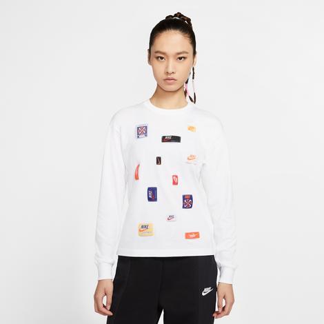 Nike Sportswear Kadın Beyaz Uzun Kollu T-Shirt