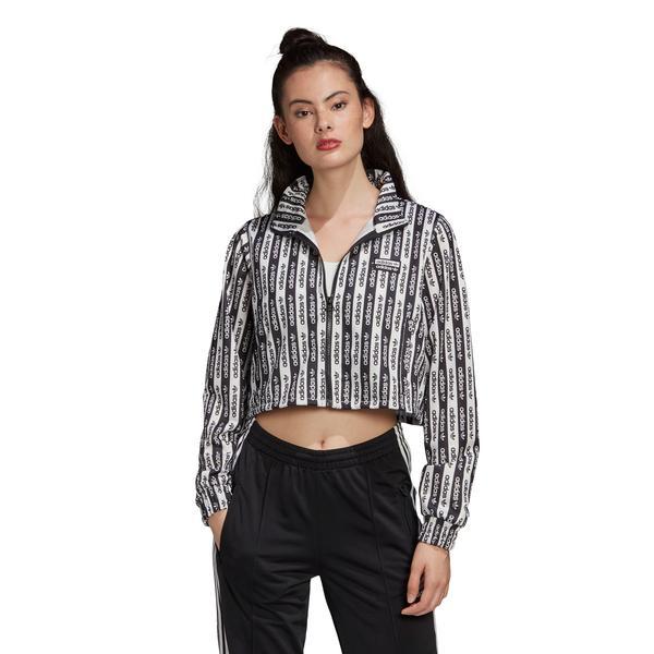 adidas Kadın Siyah Fermuarlı Sweatshirt