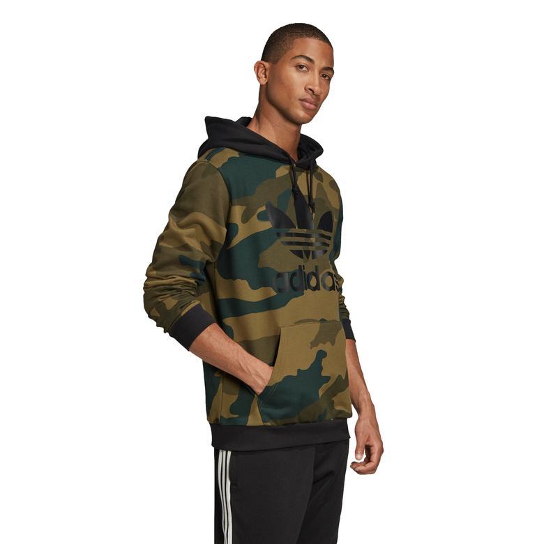 adidas Camo OTH Erkek Siyah Sweatshirt