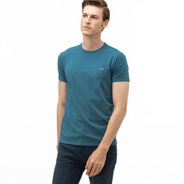 Lacoste Erkek Slim Fit Bisiklet Yaka Yeşil T-Shirt