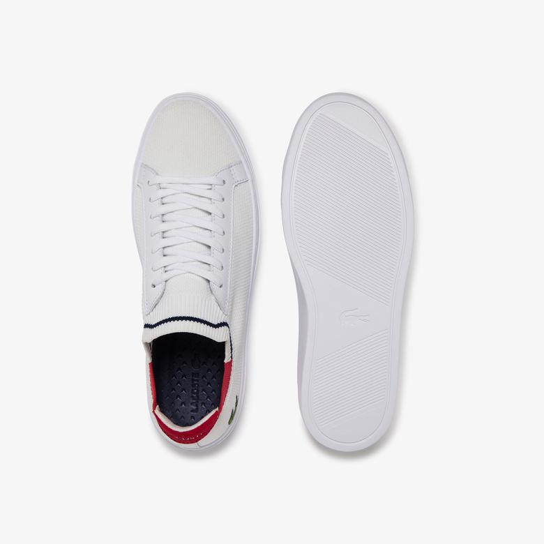 Lacoste La Piquee 120 1 Cma Erkek Beyaz - Kırmızı - Lacivert Spor Ayakkabı