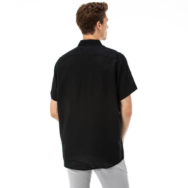Nautica Erkek Klasik Fit Kısa Kollu Siyah Gömlek