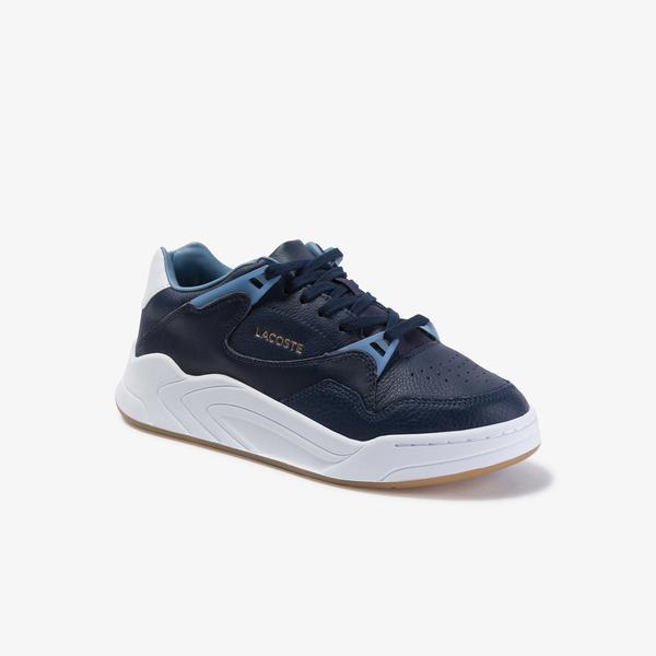 Lacoste Court Slam Kadın Lacivert-Açık Mavi Deri Ayakkabı