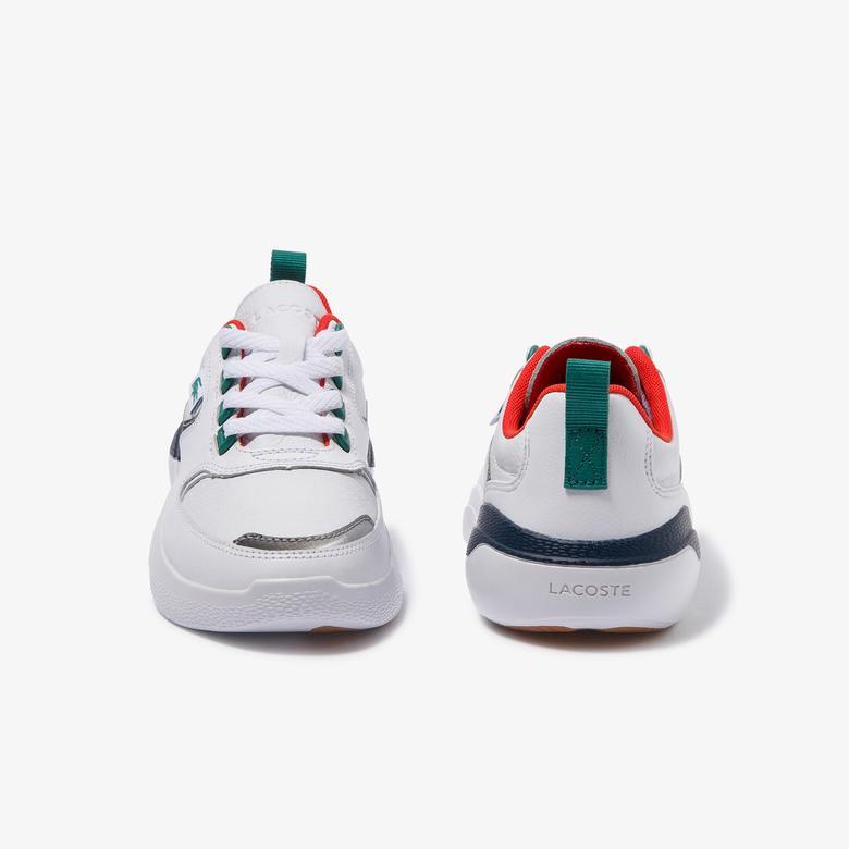 Lacoste Wildcard Kadın Beyaz-Lacivert Deri Ayakkabı