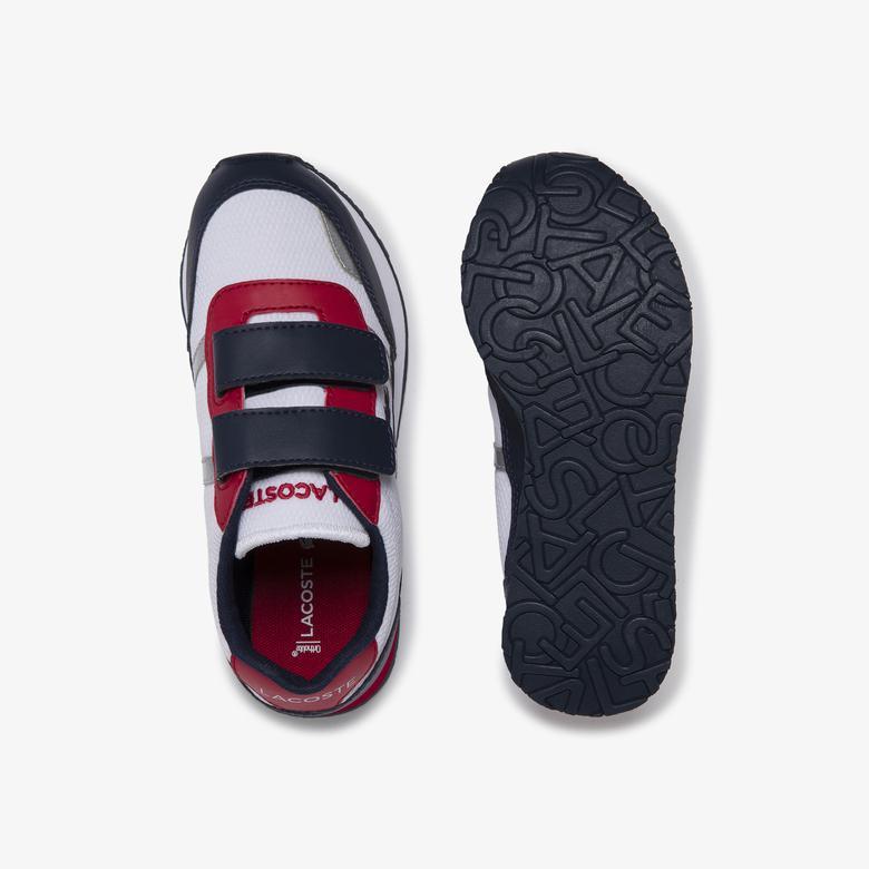 Lacoste Partner 120 1 Suc Çocuk Beyaz - Lacivert - Kırmızı Sneaker