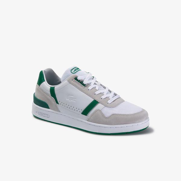 Lacoste T-Clip Erkek Beyaz-Yeşil Spor Ayakkabı