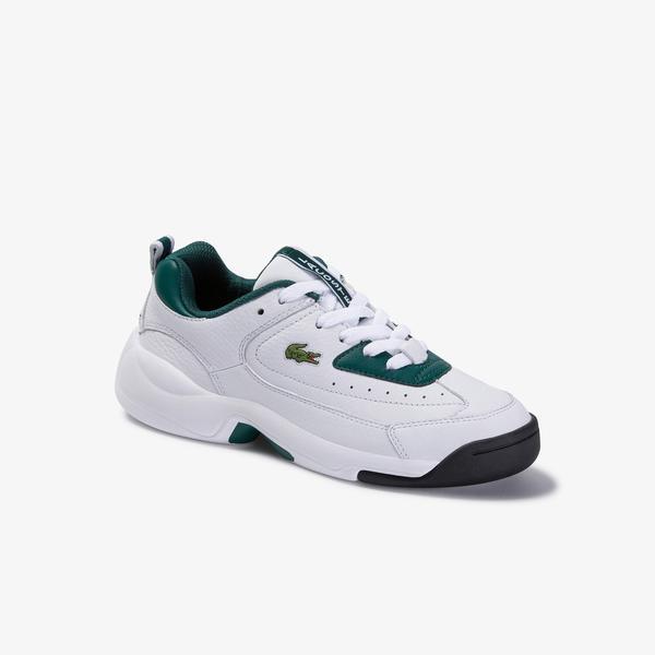 Lacoste V-Ultra Og 120 1 Sfa Kadın Koyu Yeşil-Beyaz Deri Sneaker