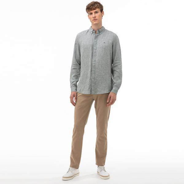 Lacoste Erkek Slim Fit Açık Kahverengi Pantolon
