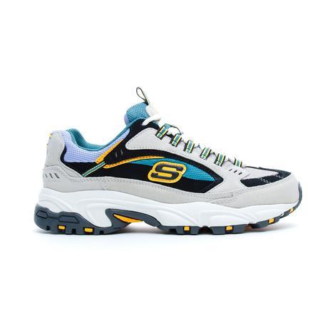 Skechers Stamina - Cutback Erkek Beyaz-Mavi Spor Ayakkabı