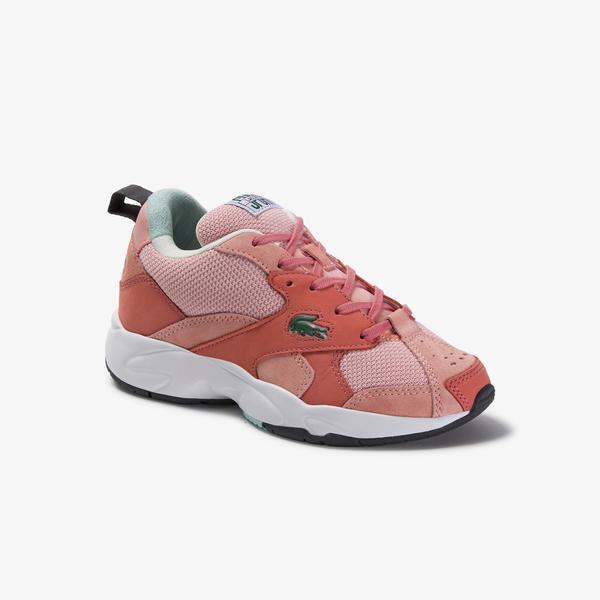 Lacoste Storm 96 120 3 Us Sfa Kadın File Detaylı Pembe Sneaker