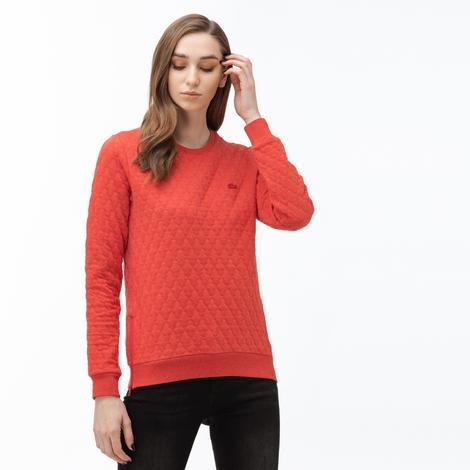 Lacoste Kadın Bisiklet Yaka Kapitone Turuncu Sweatshirt